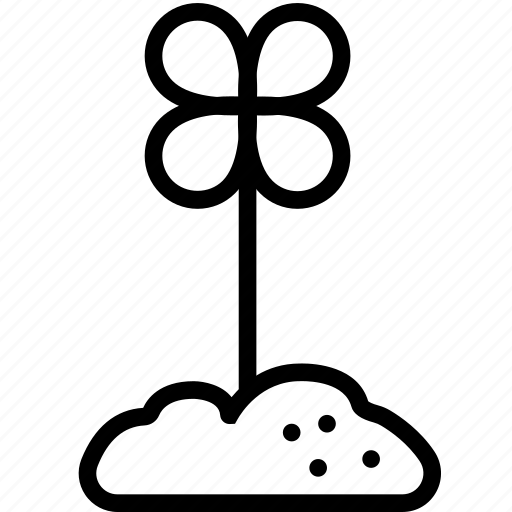 dirt, earth, flower, nature, plant icon