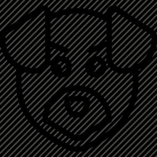animal, avatar, dog, face, nature icon