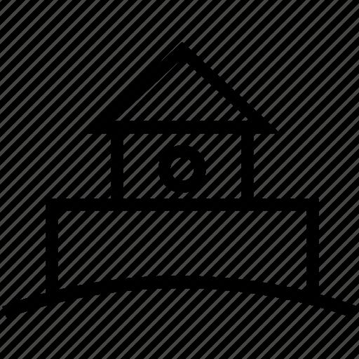 building, castle, construction icon