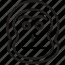 animal, avatar, face, monkey