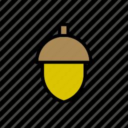 acorn, natural, nature, world icon