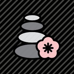 natural, nature, pile, spa, stone, world icon