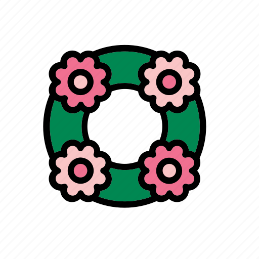 crown, flower, funeral, natural, nature, world, wreath icon