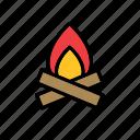 bonfire, fire, flame, natural, nature, world