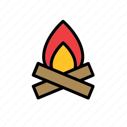 bonfire, fire, flame, natural, nature, world icon