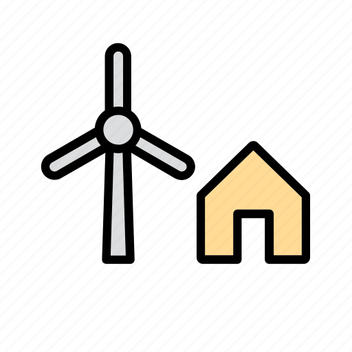 clean, energy, mill, nature, power, renewable, wind icon