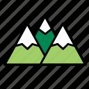 chain, mountain, mountains, natural, nature, world icon