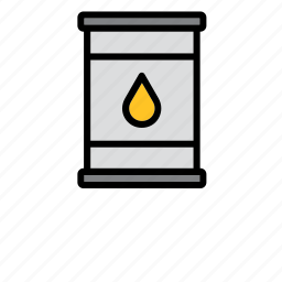 drum, energy, gasoline, large can, oil, petroleum, resource icon
