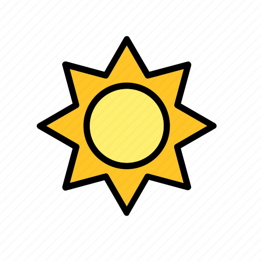 natural, nature, sun, weather, world icon