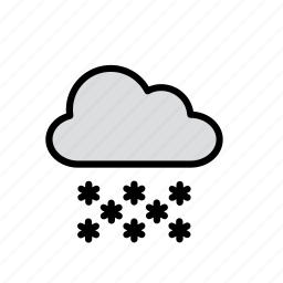 cloud, nature, snow, snowflake, snowing, weather icon