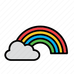 cloud, natural, nature, rainbow, weather, world icon