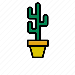 cactus, decoration, flowerpot, natural, nature, world icon