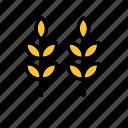 farm, natural, nature, wheat, world icon