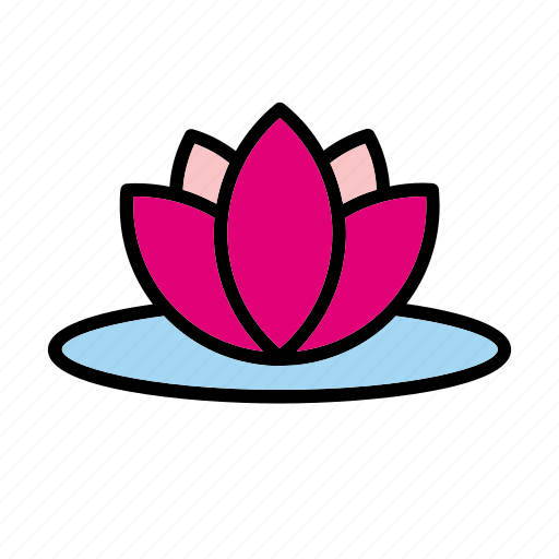 bloom, flower, lake, lily, natural, nature, water icon