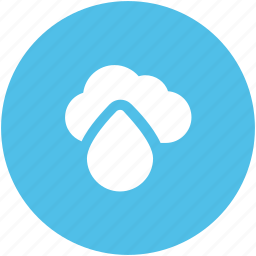 atmosphere, cloud, cloud and drop, rain, raining, weather icon