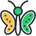 beautiful insect, butterfly, colorful insect, insect, moth icon