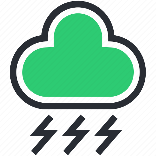 Cloud lightning, power bolt, sky cloud, storm cloud, thunderstorm icon - Download on Iconfinder