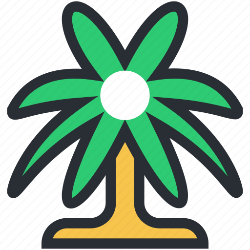 beach, coconut trees, date tree, island, palm tree, tropical tree icon