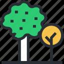 greenery, shrub tree, cypress tree, trees, nature icon