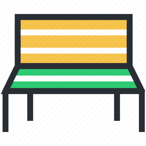 park bench, rest, seat, wooden bench, wooden chair icon