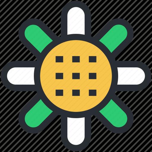 coneflower, dandelion, flower, goldenrod, sunflower icon