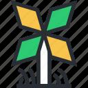 aerogenerator, mill, whirligig, wind generator, windmill icon