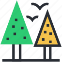 birds, garden, park, sky, trees icon