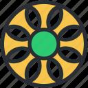 decorative flower, flower, flower beauty, generic flower, creative flower icon