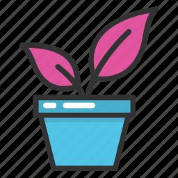 greenery, plant, plant pot, plantation, planting icon