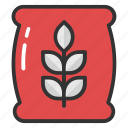 flour bag, flour sack, food, grain sack, wheat bag icon
