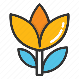 flower, spring blooming, spring flower, tulip, tulip bud icon