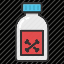 acid, chemical, poison, poison bottle, toxic bottle icon