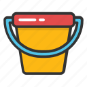 bucket, garden bucket, pail, paint bucket, water bucket icon
