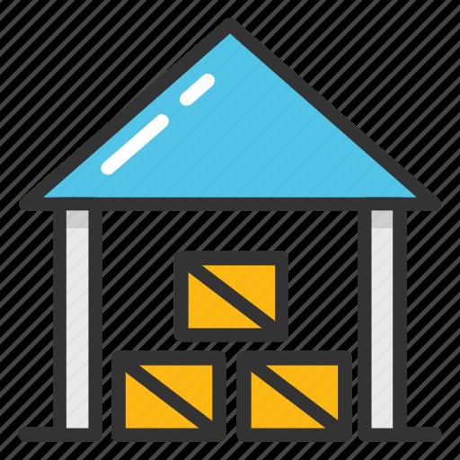 godown, industrial storage, storage, storage unit, warehouse icon