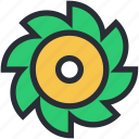 blossom, design element, flower, freshness, swirl shape flower icon