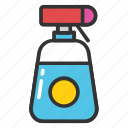 cleaning spray bottle, shower bottle, spray pistol cleaner, spray pump, trigger spray bottle icon