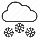ice flakes, snow falling, snowflakes, weather, winter season icon