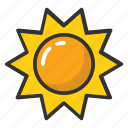 morning, sun, sunlight, sunny day, sunshine icon