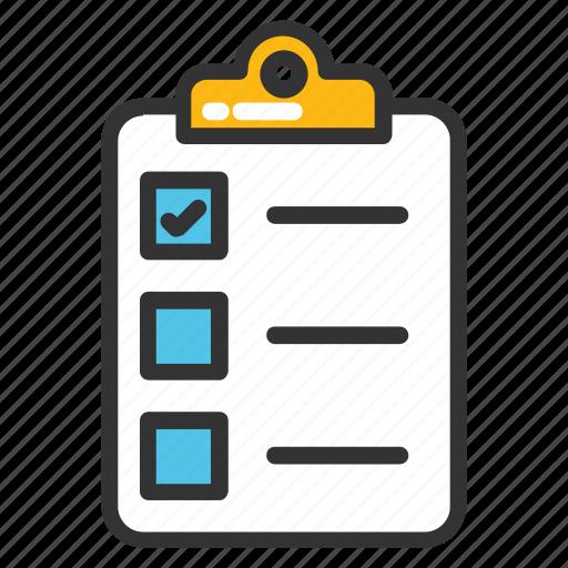 agenda list, checklist, clipboard, documents, list, paper, plan list icon
