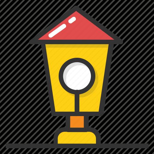 illustration lamp, led street, outdoor lamp, street lamp, street light pole icon