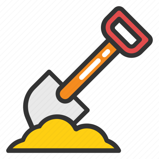 Construction tool, gardening tool, shovel, spade, trowel icon - Download on Iconfinder
