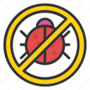 insect, insect forbidden, ladybug, not allowed, not insect icon