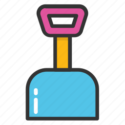 construction tool, gardening tool, shovel, spade, trowel icon