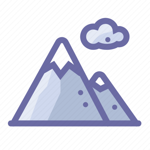 cloud, forecast, mountain, snow, weather icon
