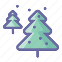 decoration, holiday, pine, plant, snow, tree, winter icon