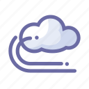 cloud, forecast, storage, weather, wind icon
