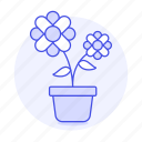 flourishing, flower, flowering, flowers, nature, plants, pot icon