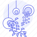 fern, flowers, hanging, nature, plant, plants, pot icon
