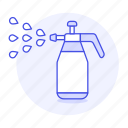 bottle, garden, gardening, handheld, nature, plant, spray, sprayer, watering icon