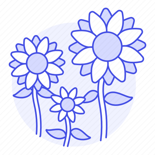 flowers, nature, plants, sunflower, yellow icon